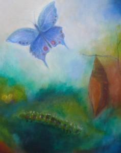 Doortje Caspers  De vlinderschildering