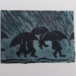 Regen | Lino druk
