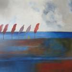 Tegenwind | Acryl op linnen | 100 x 120 cm
